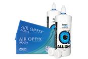 Air Optix Aqua Sparpaket 2x6er Monatskontaktlinsen + Kontaktlinsenpflege