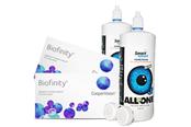 Biofinity Kontaktlinsen Sparpaket 2x6er + Kontaktlinsenpflege