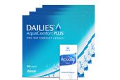 Sparpaket Tageslinsen 4x90er Dailies AquaConfort Plus Kontaktlinsen
