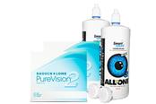 Pure Vision Sparpaket 2x6er Monatskontaktlinsen + Kontaktlinsenpflege