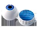 Aufbewahrungsbehälter für Kontaktlinsen mit Motiv Auge