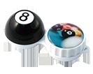 Aufbewahrungsbehälter für Kontaktlinsen mit Motiv Billard