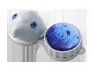 Aufbewahrungsbehälter für Kontaktlinsen mit Motiv Delfin