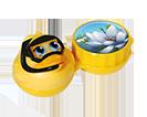Aufbewahrungsbehälter für Kontaktlinsen mit Motiv Ente