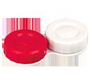 Behälter Kontaktlinsen flach   Rot