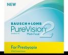 PureVision2 for Presbyopia 6er (Multi-Focal) bei Alterssichtigkeit Linsen tragen