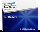 PureVision Multi-Focal bei Alterssichtigkeit Linsen tragen