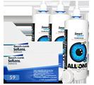 Halbjahrespaket Soflens 59 + Pflege 2x6 Linsen und Kontaktlinsenpflege